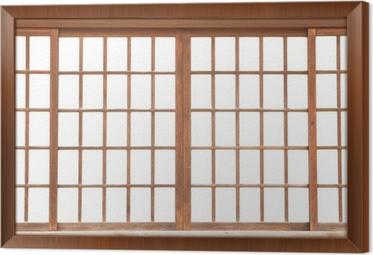 texture of Japanese sliding paper door Shoji Framed Canvas & texture of Japanese sliding paper door Shoji Wall Mural u2022 Pixers ...