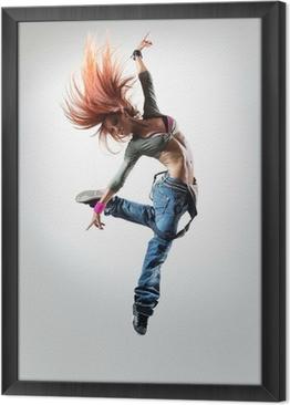 the dancer Framed Canvas