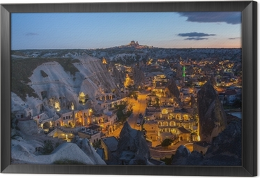 The landscape of Cappadocia , Turkey Framed Canvas