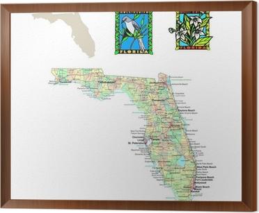 Florida Political Map.Usa States Series Florida Political Map Wall Mural Pixers We