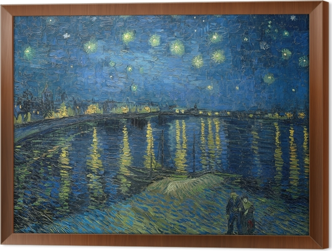Vincent van Gogh - Starry Night Over the Rhone Framed Canvas - Reproductions