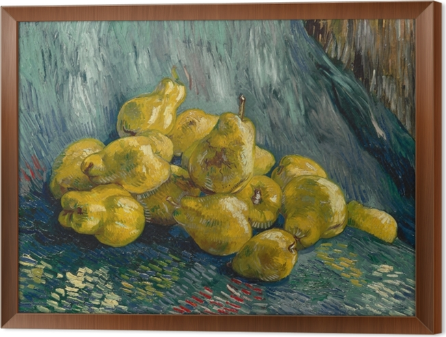 Vincent van Gogh - Still life with quinces Framed Canvas - Reproductions