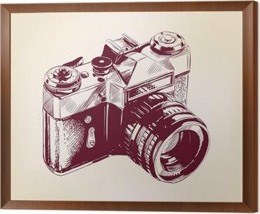 Camera Vintage Vector Free : Vintage old photo camera vector llustration canvas print u2022 pixers