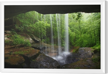 Waterfall in northern Alabama Framed Canvas
