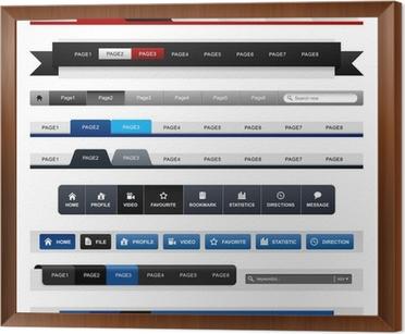 Web Design Menu Navigation Bar Website Header Element Wall Mural Pixers We Live To Change