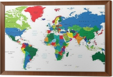 World map countries poster pixers we live to change gumiabroncs Image collections
