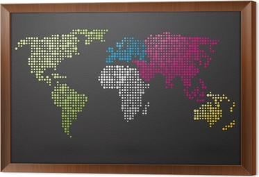 World map made up of small dots with distinct continents canvas world map made up of small dots with distinct continents framed canvas gumiabroncs Images