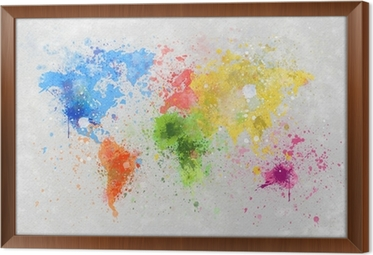 World map painting canvas print pixers we live to change gumiabroncs Gallery