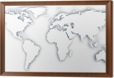 World maps in black and white canvas prints pixers world map framed canvas gumiabroncs Choice Image