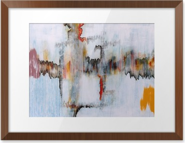 an abstract painting Framed Picture