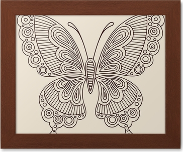Henna Tattoo Butterfly Doodle Vector Design Sticker Pixers We