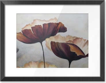 Poppy abstract painting Framed Picture