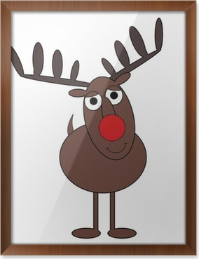 reindeer no2 cartoon isolated on white poster pixers we live to change - Reindeer Images 2