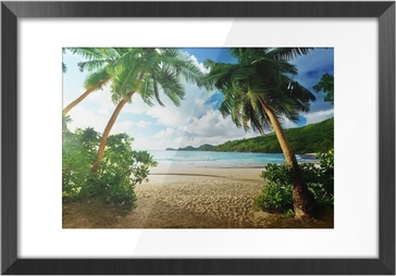 Sunset in the Seychelles Framed Picture