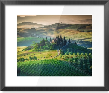 Tuscan country Framed Picture
