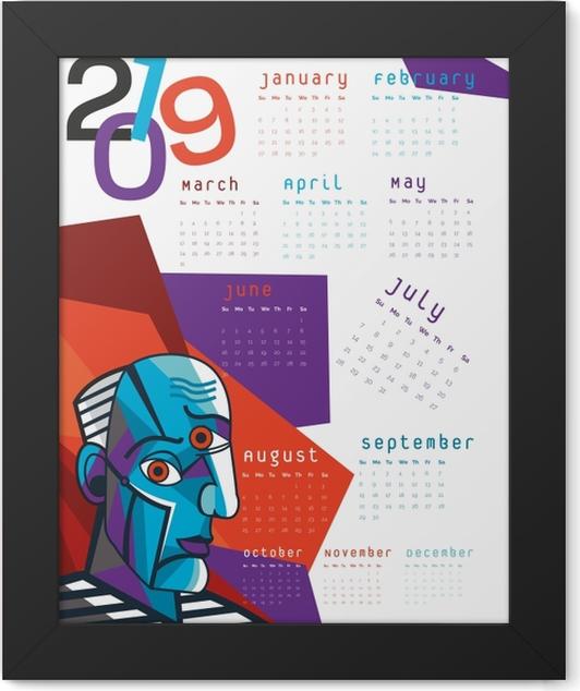 Calendar 2019 – Cubism Framed Poster - Calendars 2019