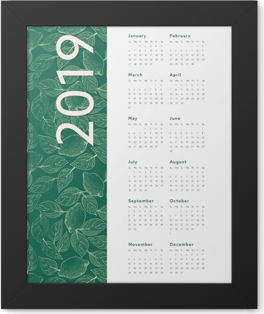 Calendar 2019 – Leaves Framed Poster - Calendars 2019