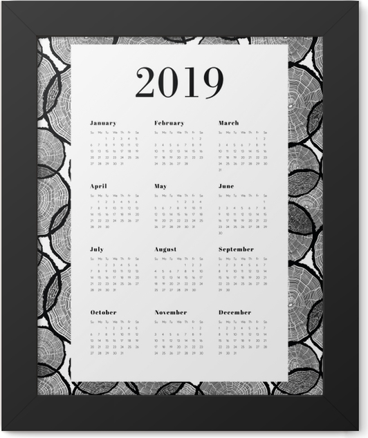 Calendar 2019 - Tree trunks Framed Poster - Calendars 2019