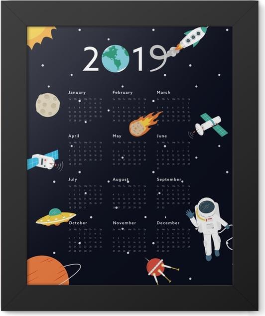Calendar 2019 – Universe Framed Poster - Calendars 2019