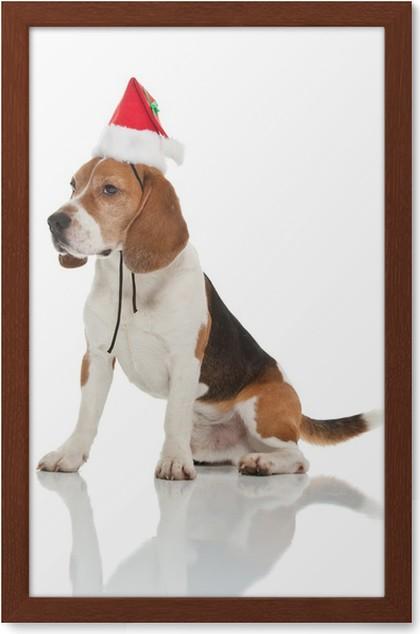christmas beagle framed poster - Christmas Beagle