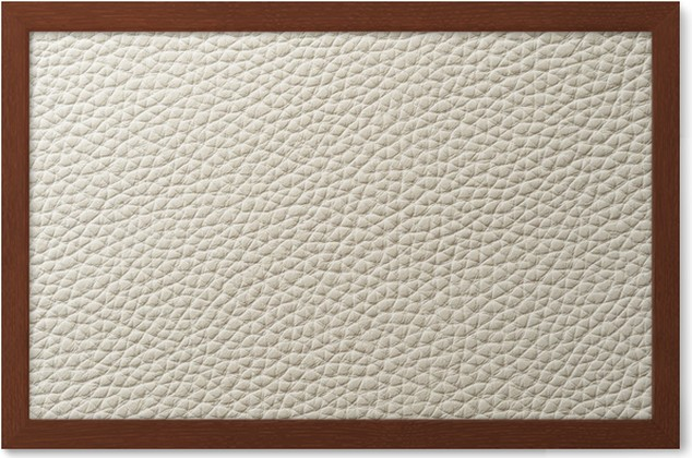 Closeup Of Seamless White Leather Texture Framed Poster