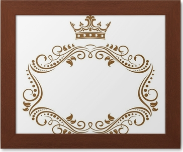 elegant royal frame with crown poster pixers we live to change