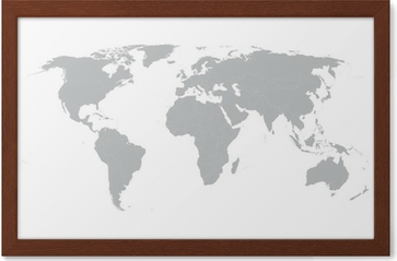 Grey vector world map with borders of all countries poster pixers grey vector world map with borders of all countries poster pixers we live to change gumiabroncs Images