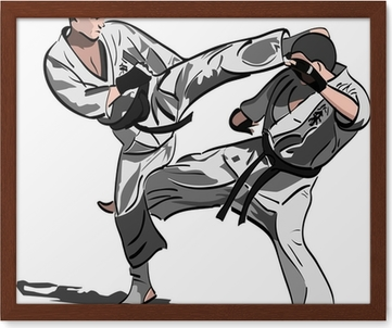 karate fight canvas print pixers we live to change