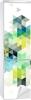 abstract low poly background, vector Fridge Sticker