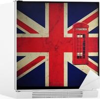 Cabina Telefonica : Bandiera inglese con cabina telefonica rossa wall mural u2022 pixers