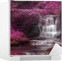 Beautiful alternate colored surreal waterfall landscape Fridge Sticker