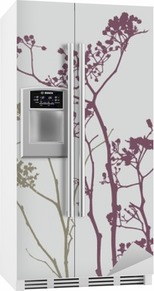 bird on meadow flowers Fridge Sticker