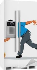 Bowling vector sign Fridge Sticker