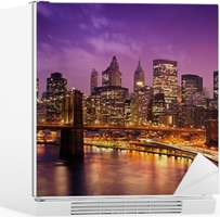 Brooklyn Bridge overlooking Manhattan Fridge Sticker