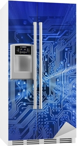 circuit board (blue energy) Fridge Sticker