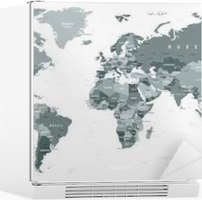 Grayscale world map borders countries and cities illustration grayscale world map borders countries and cities illustration highly detailed gray vector illustration of world map wall mural pixers we live to gumiabroncs Image collections