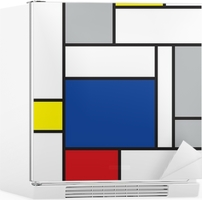 mondrian inspired art Fridge Sticker
