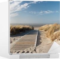 North Sea beach Fridge Sticker