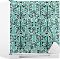 Seamless forest pattern Fridge Sticker