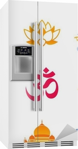 Spiritual, religious and culture icons of India Fridge Sticker