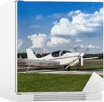 White two-seater mini plane