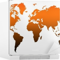 World map high res wall mural pixers we live to change sciox Images