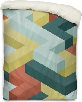 Funda de edredón Patrón transparente de la forma de color