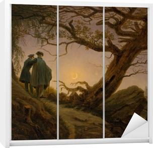 Caspar David Friedrich - Ay'yı Seyreden İki Adam Garderobe klistermærke