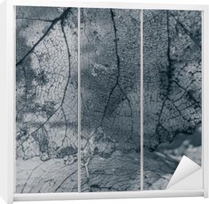 Flise, tekstur af blade Garderobe klistermærke