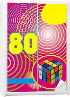 Fond années 80 rumikub Garderobe klistermærke