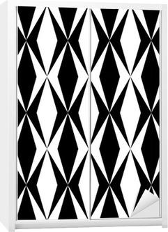 Geometrisk mønster Garderobe klistermærke
