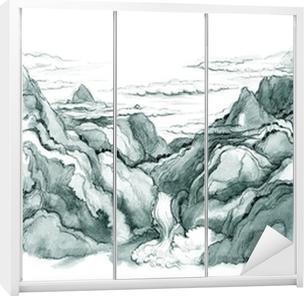 Japanske bjerge Garderobe klistermærke