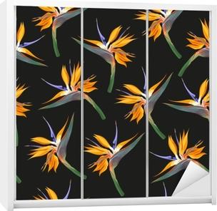 Jungle blomster sømløse Garderobe klistermærke