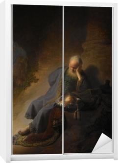 Rembrandt - Jeremias Mourning over ødelæggelsen af Jerusalem Garderobe klistermærke
